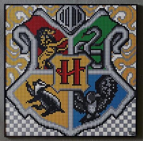 Lego Art 31201 Hogwarts Crests-2