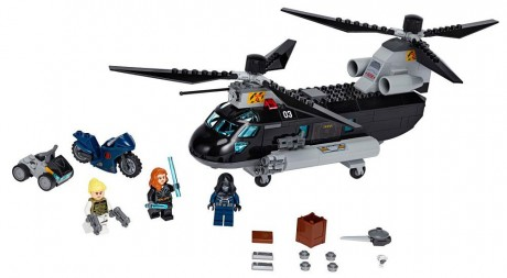 Lego Marvel Super Heroes 76162 Black Widow's Helicopter Chase-1