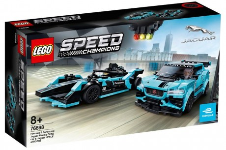 Lego Speed Champions 76898 Formula E Panasonic Jaguar Racing Gen2 car and Jaguar I-PACE eTROPHY