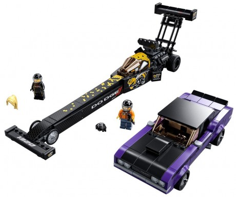 Lego Speed Champions 76904 Mopar Dodge//SRT Top Fuel Dragster and 1970 Dodge Challenger T/A-1