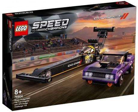 Lego Speed Champions 76904 Mopar Dodge//SRT Top Fuel Dragster and 1970 Dodge Challenger T/A